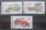Poštovní známky Česká republika 1997 Historická užitková vozidla Mi# 158-60