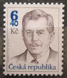 Poštovní známka Česká republika 2002 Prezident Václav Havel Mi# 334