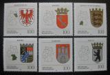 Poštovní známky Německo 1992 Znaky republik Mi# 1586-91 Kat 12€