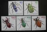 Poštovní známky Německo 1993 Ohrožení brouci Mi# 1666-70 Kat 12€