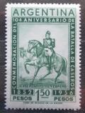 Poštovní známka Argentina 1956 Generál Justo José de Urquiza Mi# 636