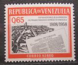 Poštovní známka Venezuela 1960 Noviny Gazeta de Caracas, 150. výročí Mi# 1341