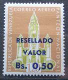 Poštovní známka Venezuela 1965 Kostel přetisk Mi# 1606