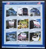 Poštovní známky Guinea-Bissau 2001 Americké lokomotivy Mi# 1800-08 Kat 13€