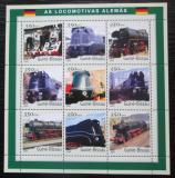 Poštovní známky Guinea-Bissau 2001 Německé lokomotivy Mi# 1809-17 Kat 13€