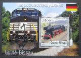 Poštovní známka Guinea-Bissau 2001 Německé lokomotivy Mi# Block 358 Kat 8.50€
