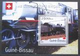 Poštovní známka Guinea-Bissau 2001 Švýcarské lokomotivy Mi# Block 359 Kat 8.50€