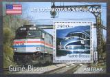 Poštovní známka Guinea-Bissau 2001 Americké lokomotivy Mi# Block 357 Kat 8.50€