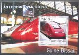 Poštovní známka Guinea-Bissau 2001 Lokomotivy Thalys Mi# Block 364 Kat 8.50€