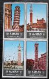 Poštovní známky Adžmán 1972 Italské památky Mi# 2074-77