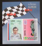 Poštovní známka Adžmán 1969 Jim Clark, automobilový závodník Mi# Block 93
