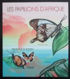 Poštovní známka Burundi 2012 Afričtí motýli neperf. Mi# Block 276 B