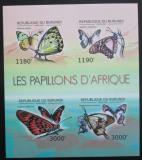 Poštovní známky Burundi 2012 Afričtí motýli neperf. Mi# 2758-61 B