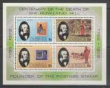 Poštovní známky Zambie 1979 Rowland Hill Mi# Block 6