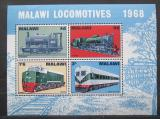 Poštovní známky Malawi 1968 Lokomotivy Mi# Block 11 Kat 10€