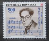 Poštovní známka Chorvatsko 1993 Vlaho Paljetak, skladatel Mi# 252