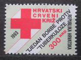 Poštovní známka Chorvatsko 1993 Červený kříž, daňová Mi# 30