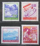 Poštovní známky Jugoslávie 1990 Poštovní služby Mi# 2401-04