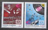 Poštovní známky Jugoslávie 1990 Eurovize Záhřeb Mi# 2417-18