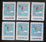 Poštovní známky Jugoslávie 1988 Červený kříž, daňové Mi# 159-64