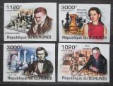Poštovní známky Burundi 2011 Světoví šachisti neperf. Mi# 2250-53 B
