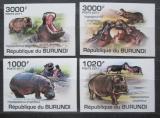 Poštovní známky Burundi 2011 Hroši neperf. Mi# 1982-85 B