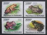 Poštovní známky Burundi 2011 Žáby neperf. Mi# 2062-65 B