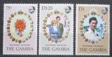 Poštovní známky Gambie 1981 Královská svatba Mi# 424-26