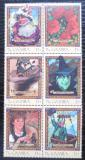 Poštovní známky Gambie 2001 Čaroděj ze země Oz Mi# 4170-75 Kat 11€