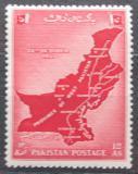 Poštovní známka Pákistán 1955 Mapa Mi# 81