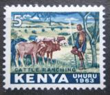 Poštovní známka Keňa 1963 Chov dobytka Mi# 1