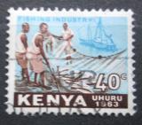 Poštovní známka Keňa 1963 Rybolov Mi# 6