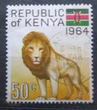 Poštovní známka Keňa 1964 Lev Mi# 17