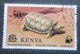 Poštovní známka Keňa 1977 Želva skalní Mi# 87