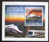 Poštovní známka Svatý Tomáš 2009 Rychlovlaky DELUXE Mi# 4088 Block