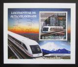 Poštovní známka Svatý Tomáš 2009 Rychlovlaky DELUXE Mi# 4089 Block