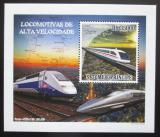 Poštovní známka Svatý Tomáš 2009 Rychlovlaky DELUXE Mi# 4090 Block