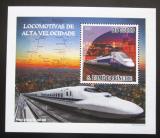 Poštovní známka Svatý Tomáš 2009 Rychlovlaky DELUXE Mi# 4091 Block