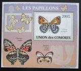 Poštovní známka Komory 2009 Motýli DELUXE Mi# 2149 Block
