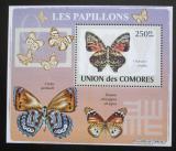 Poštovní známka Komory 2009 Motýli DELUXE Mi# 2150 Block