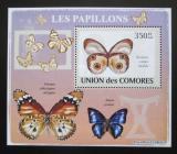 Poštovní známka Komory 2009 Motýli DELUXE Mi# 2151 Block