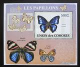 Poštovní známka Komory 2009 Motýli DELUXE Mi# 2153 Block