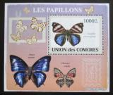 Poštovní známka Komory 2009 Motýli DELUXE Mi# 2154 Block