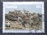 Poštovní známka Namíbie 1991 Zebra Hartmannové, WWF Mi# 702
