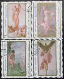 Poštovní známky Kuba 1990 Umění Mi# 3402-05