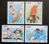 Poštovní známky Kuba 1990 Sportovní turistika Mi# 3398-3401