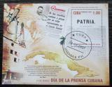 Poštovní známka Kuba 2007 Noviny Patria, 115. výročí Mi# Block 222