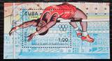 Poštovní známka Kuba 1990 LOH Barcelona, skok do výšky Mi# Block 118