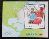Poštovní známka Kuba 1995 LOH Atlanta, box Mi# Block 140