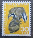 Poštovní známka Švýcarsko 1965 Jezevec lesní Mi# 829